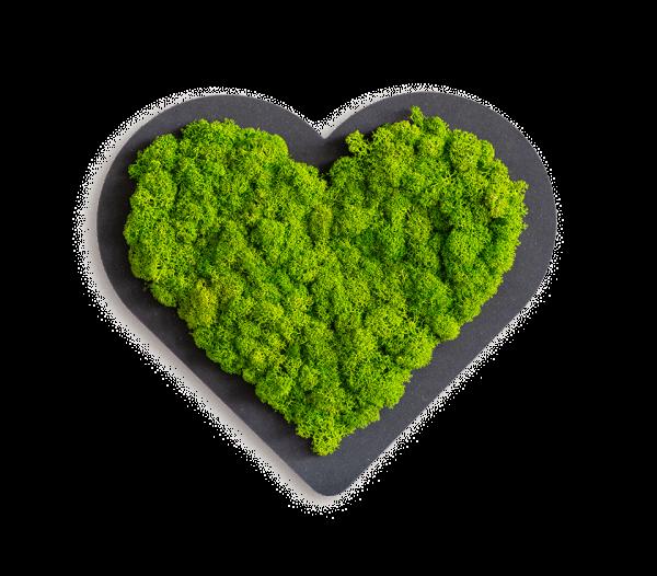 Piktogramm: Herzchen grün (20cm)