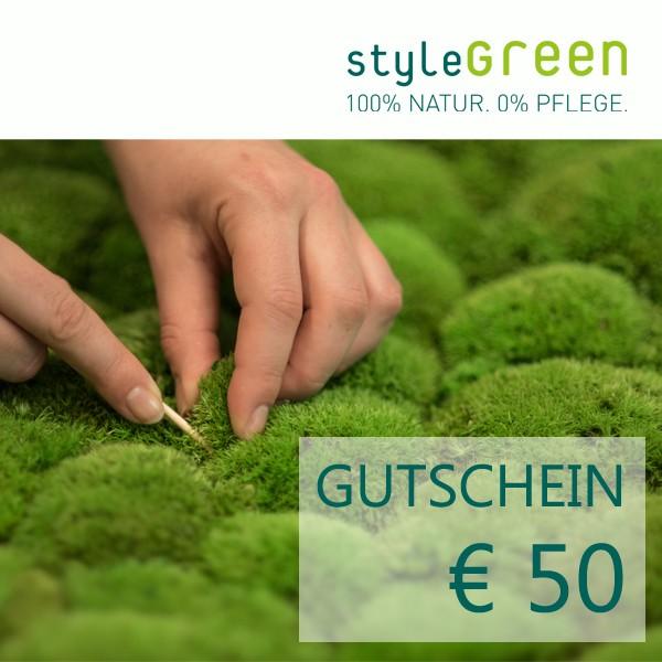 50 Euro Gutschein für den styleGREEN Onlineshop